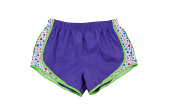 Boxercraft Ladies/Womens Velocity Breathable Sports Shorts (Purple/ Stars)