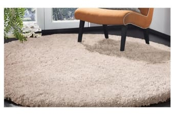 Luxury Soft Plush Thick Round Shaggy Floor Rug BEIGE