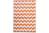 Indoor Outdoor Zig Zag Rug Orange 290x200cm