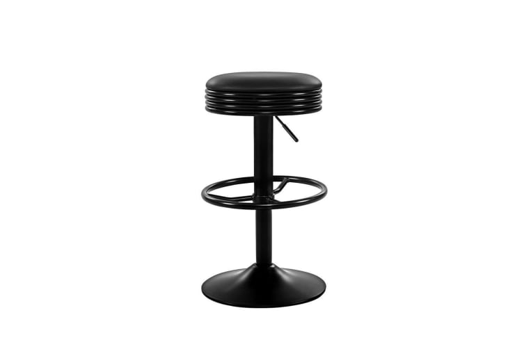 Artiss 2x Kitchen Bar Stools Gas Lift Bar Stool Chairs Swivel Barstools Black