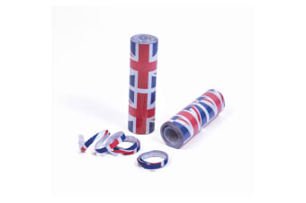 Bristol Novelty Union Jack Mini Streamers (Pack Of 12) (Blue/Red/White) (One Size)