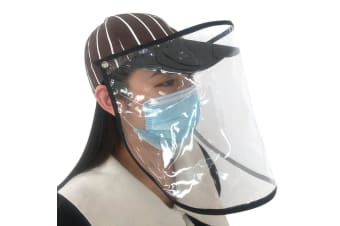 Anti-saliva Transparent Protective Cap Anti-fog Stripe Hat Isolation Cover Face Removable Mask