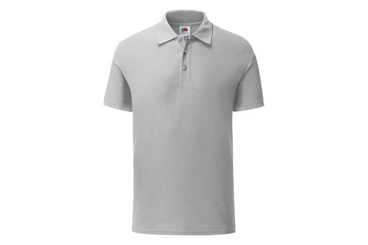 Fruit Of The Loom Mens Iconic Pique Polo Shirt (Zinc Grey) (3XL)