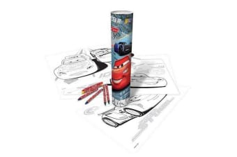 Disney Cars Poster Colour-In Art Tube (Multicoloured) (One Size)