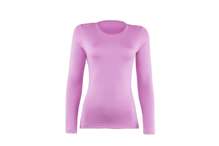 Rhino Womens/Ladies Sports Baselayer Long Sleeve (Pack of 2) (Hot Pink) (16)