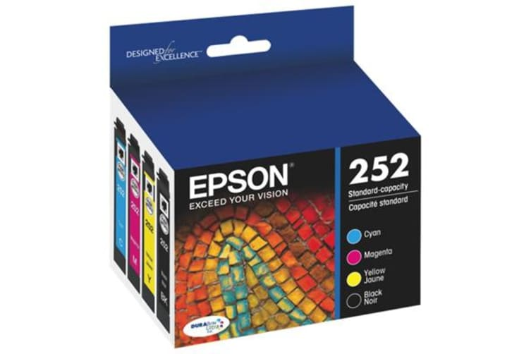 New Epson 252 STD Capacity 4 Colour Value Pack Ink Cartridges