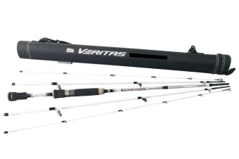 Abu Garcia 5 Piece 6'6 2-5kg Veritas 3.0 Travel Rod - Graphite Spin Rod with Travel Tube