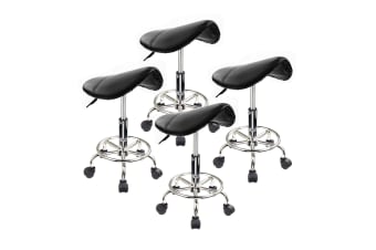 Saddle Salon Stool - BLACK X4