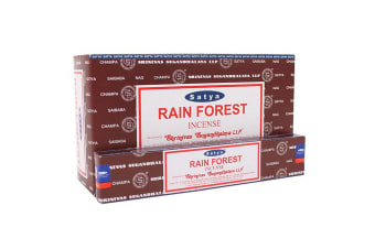 Satya Rainforest Incense Sticks (Box Of 12 Packs) (Brown) (One Size)