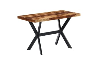vidaXL Dining Table 120x60x75 cm Solid Sheesham Wood
