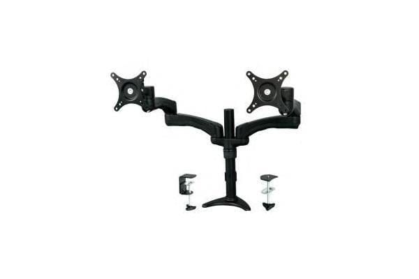 STARTECH Articulating Dual Monitor Arm - Grommet / Desk Mount with Cable Management & Height Adjust
