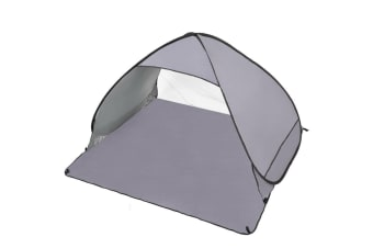 Easy Pop Up Portable Beach Canopy Sun Shade Shelter Outdoor Camping Fishing Tent  -  2 PersonGrey
