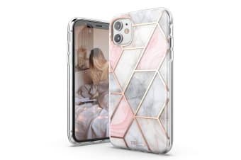 TITSHARK Marble Pattern ShockProof Tough High-quality stylish Case Cover For iPhone 11-Pink