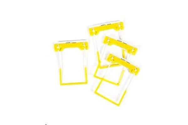 AVERY CLIP FILE FASTNER YELLOW PACK 100