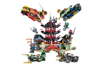 Children'S Assembled Building Blocks Puzzle Toy Building Blocks Temple+Blade Combat Vehicle