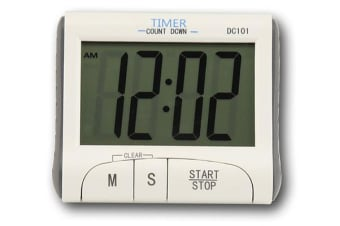 Digital Lcd Magnetic Clock Count Down Timer 60Min Alarm Kitchen Sport Dc101