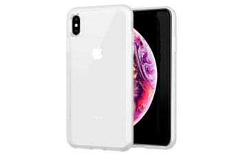 ZUSLAB XS Max Case Tough Fusion Shock Absorption Rubber Bumper Protective Case Transparent Hard Back Clear Cover for Apple - Frost White