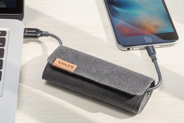 Anker PowerLine+ Lightning 1.8m with Pouch A8122HA1 (Space Gray)