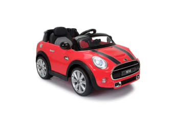 Red & Black Mini Cooper Kids Electric Ride-on Car