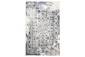 Tabriz Transitional Modern Rug White Navy Grey 230X160cm