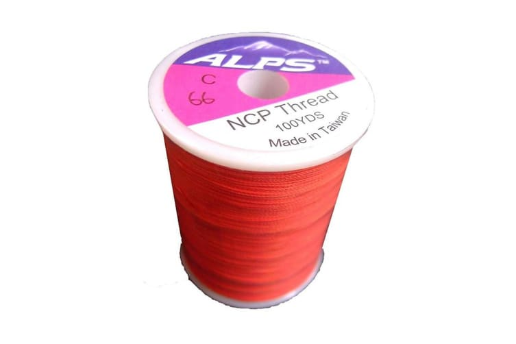Alps 100yds of Brown/Orange Rod Wrapping Thread - Size C (0.2mm) Rod Binding Cotton