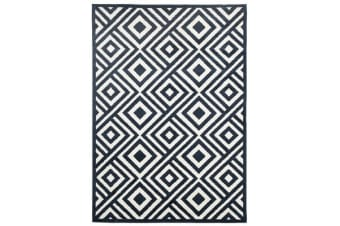 Indoor Outdoor Matrix Rug Navy 290x200cm