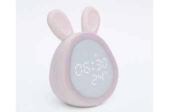 Select Mall Smart Alarm Clock Creative Lazy Pupils with Rechargeable Children Cute Cartoon Super Loud Alarm Clock-Pink