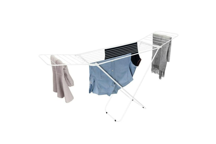 21 Rails Foldable Clothes Airer Dry Line Rack Dryer Laundry Hanger Wash Winged N