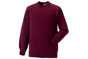 Jerzees Schoolgear Childrens Raglan Sleeve Sweatshirt (Burgundy) (3-4)