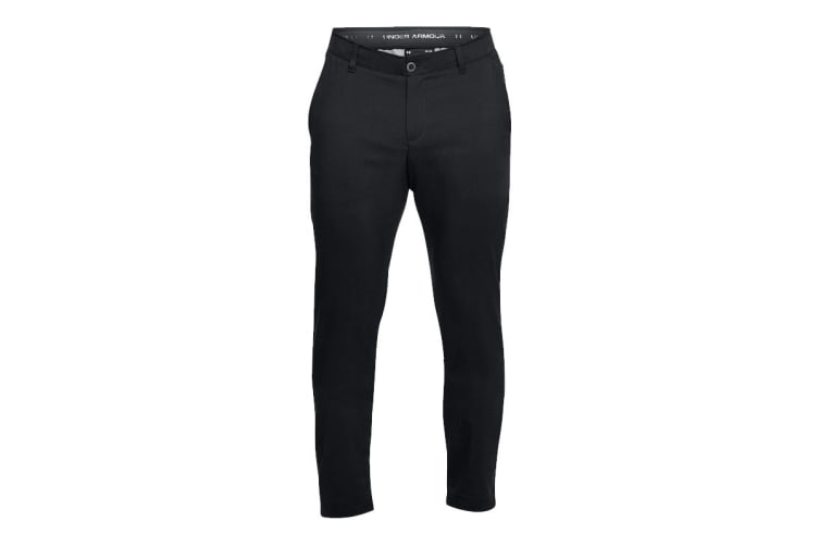 Under Armour Men's Tapered Golf Pants (Black/Steel, Size 36/34)