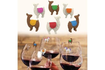 Tiny Prancers Llama Drink Markers | Fred & Friends