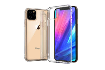 Select Mall Creative Dust-proof Drop Protection Cover Transparent Mobile Phone Case Compatible with Series IPhone 11-White Iphone11 Pro Max 6.5 inch