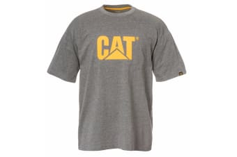 Caterpillar Mens TM Logo Short Sleeve T-Shirt (Dark Heather Grey)