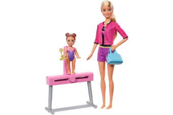 Barbie Gymnastics Coach Doll and Playset