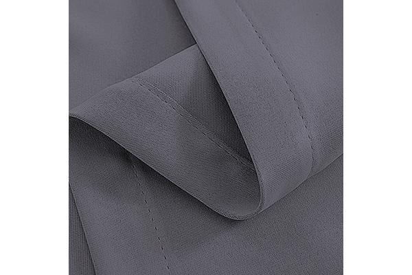 Art Queen 2 Panel 180 x 213cm Block Out Curtains (Grey)