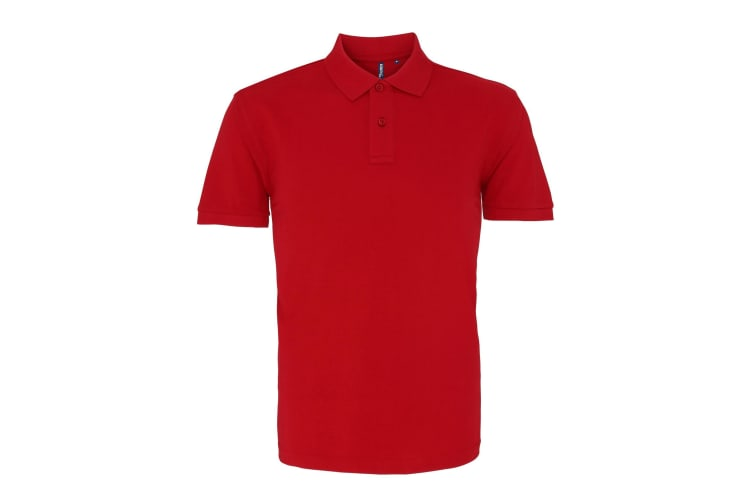 Asquith & Fox Mens Plain Short Sleeve Polo Shirt (Cardinal Red) (XL)