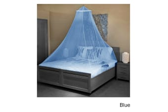 Trendy Home Mosquito Net with Hook Blue