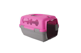 Airline Pet Box Outdoor Portable Pet Shipping Box  PINK