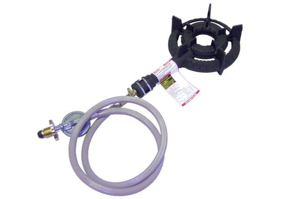 Auscrown Single Ring LP Burner with Hose & Regulator