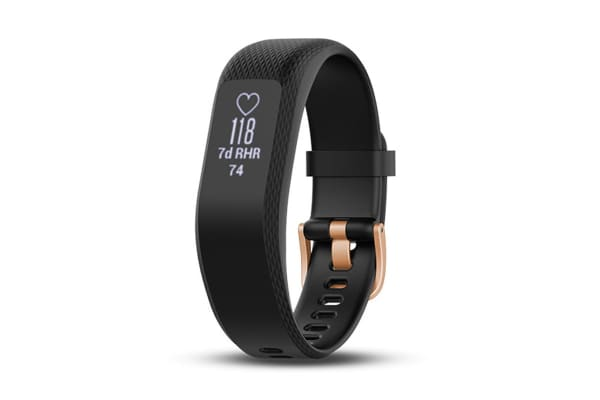 Garmin Vivosmart 3 (Large, Black with Rose Gold Buckle)