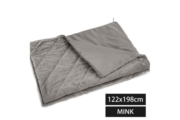 Dreamz Weighted Blanket 9/7/5/2KG Kids Adult Bamboo Cover Heavy Gravity Relax
