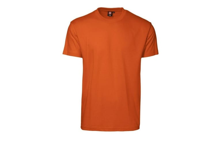 ID Mens T-Time Classic Regular Fitting Short Sleeve T-Shirt (Orange) (S)
