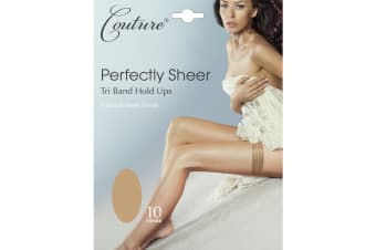 Couture Womens/Ladies Perfectly Sheer Tri Band Hold Ups (1 Pair) (Natural)