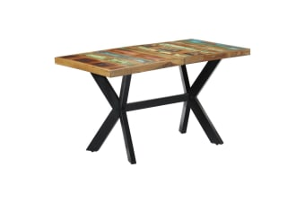 vidaXL Dining Table 140x70x75 cm Solid Reclaimed Wood