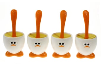 Joie Msc Egghead Egg Cups And Spoons - Set Of 4
