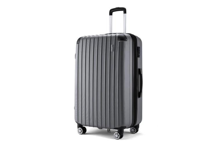 "Buonviaggio 28"" Luggage Suitcase Trolley TSA Hard Case Storage Organizer Gray"