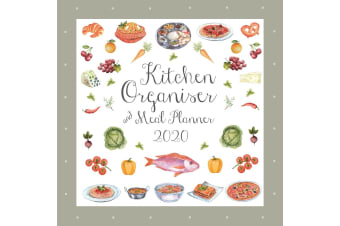 Kitchen Organiser & Meal Planner - 2020 Wall Calendar 16 month 30x30cm (H)