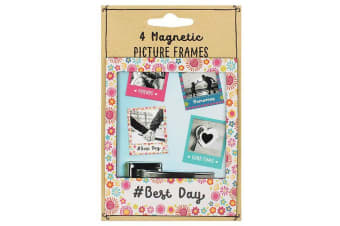 Something Different Fiesta Fun Magnetic Picture Frames (Set of 4) (Multicoloured)