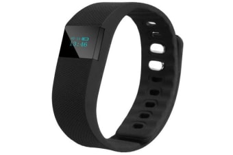 """TODO Bluetooth V4.0 Fitness Band Pedometer Watch 0.91"""" Oled Android Ios App - Black"""