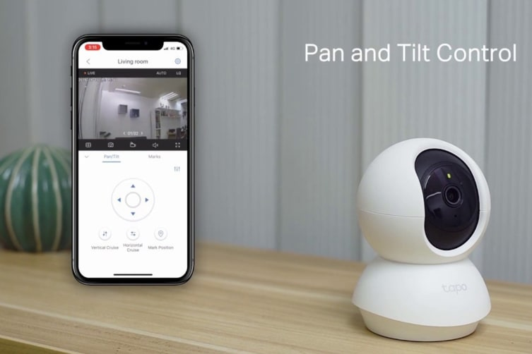 TP-Link 1080P FHD Pan/Tilt Home Security Wi-Fi Camera with Two-Way Audio, Night Vision, Sound/Light Alarm & Motion Detection (Tapo C200)
